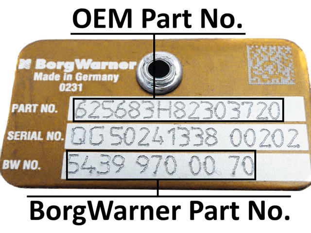 BorgWarner Part No