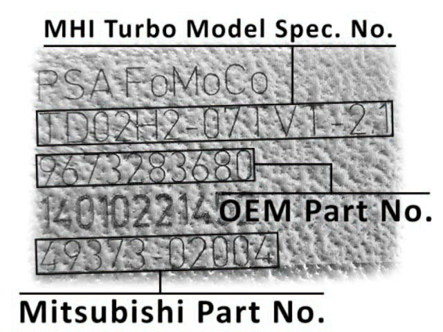 Mitsubishi Part No
